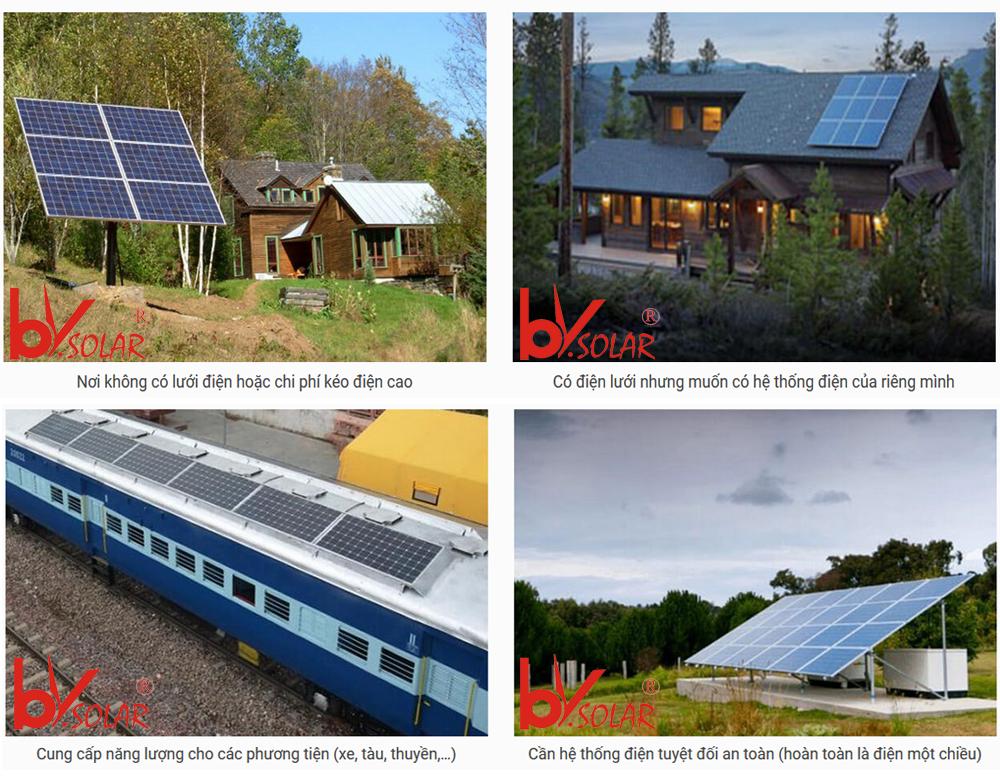 Điện mặt trời độc lập nên dùng ở đâu
